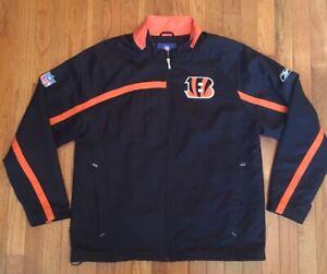Awesome Reebok NFL On Field Cincinnati Bengals Zippered Jacket - Adult Medium