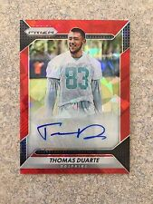 2016 PANINI PRIZM RED CRYSTALS PRIZMS THOMAS DUARTE AUTO RC #D /75 DOLPHINS