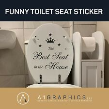BEST SEAT IN HOUSE funny vinyl toilet lid seat wall stickers Decals Decoration