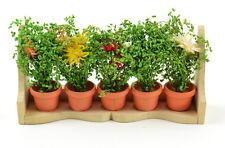 Miniature Flower Box with Wild Flowers 61099 Fairy Garden Dollhouse Diorama