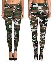 New Womens Ladies Army Camoflage Print Leggings  Size: 8 10 12 14