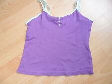 tshirt fille à bretelles été OKAOU la redoute creation 138 cm 10 ans violet