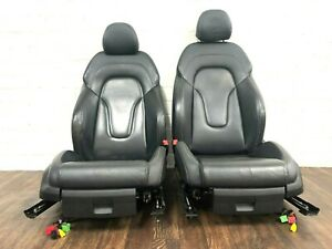 AUDI TTS MK2 FULL BLACK LEATHER HEATED & ELECTRIC SEATS SET WHITE STITCHING