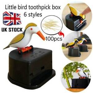 Cute Hummingbird Toothpick Dispenser Automatic Bird Toothpick Box UK