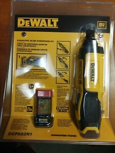 "DeWALT DCF682N1 8V Max Cordless Li-Ion 1/4"" Gyroscopic Inline Screwdriver Kit"
