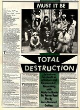 9/5/81PGN23 ARTICLE & PICTURES : MISTY IN ROOTS, TOTAL DESTRUCTION