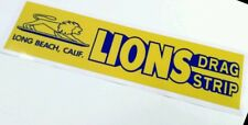 Lions drag strip bumper sticker decal hot rod nostalgia rat rod vintage look