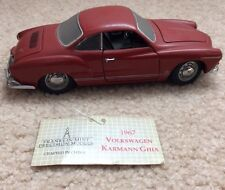 1/24 Franklin Mint Precision Models Red 1967 Volkswagen Karmann Ghia Diecast