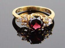 Antique c1900 1.25CT Natural Rubellite & 0.26CT Diamond 18K Ring, 4g, size 6