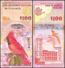 Bermuda 100 Dollars Banknote, 2009, P-62a, UNC, Onion Prefix