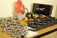 56 Pcs Dimple die + Electric Hydraulic kit. 16 - 114mm cut, 1/2-4 in TAPPER
