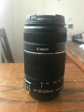 CANON EF-S 55-250mm f/4.0-5.6 IS LENS New