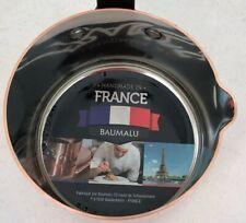 """Baumalu Sauce Pan w/ Spout 11 cm 4.25"""" .8 Qt Smooth 2 mm Copper Alsace France"""
