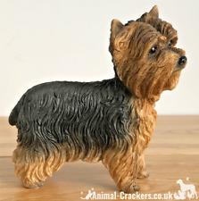 More details for yorkshire terrier 'yorkie' lifelike figurine ornament leonardo range gift boxed.