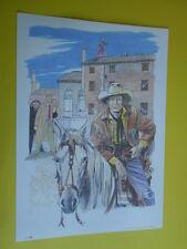 Filippucci, Lucio-litografia n°34-Tex Willer-martin Mystére timbro primo giorno