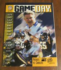 1997 Patriots vs. Chargers Program Junior Seau Tony Martin READ NOTES