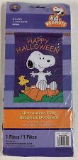 "Peanuts Happy Halloween Garden Flag Snoopy Woodstock Large 28""x40"" New!"