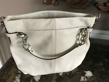 New WT Coach Brooke Handbag Purse G0920-14142 Full Grain Cowhide white Pebbled