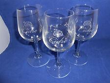 STELLA ARTOIS CIDRE SET THREE 3 GLASSES 200 mL 6.75 OZ 6.25 IN. WINE TASTER NEW