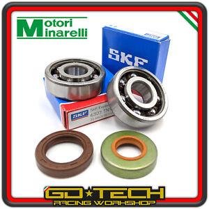 Cojinetes Kit De Banco SKF C3 Jaula Teflón Y Sellos Aceite Moto Minarelli AM6 50