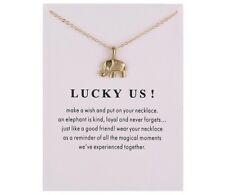 "Wish ""Lucky Us""  Elephant Necklace YS134"
