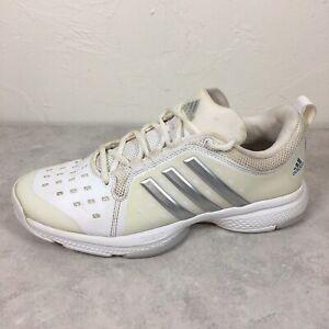 Adidas Women's Barricade Classic Bounce White Mesh Tennis Shoe US 9.5