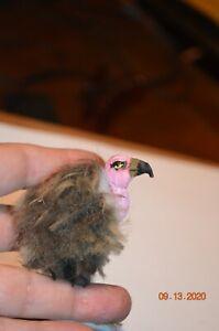 Dollhouse HAlloween Miniature Vulture by Nicole OOAK Last one!