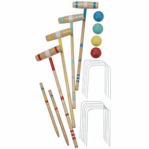 Regent Sports Classic 4 Player Croquet Set with 24 Inch Sticks 20424