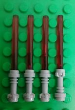 *NEW* Lego Bulk Red Light Sabres Grey Hilts Star Wars Jedi Sith Lord - 4 pieces