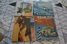 4  BROCHURES  Italie Voyage CAPRI VENEZIA PLAGES ... 1937 A 1939 EN FRANCAIS