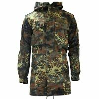 GENUINE GERMAN ARMY FIELD JACKET PARKA MILITARY ISSUE HOODED FLECKTARN COMBAT