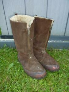 WWII British RAF Royal Air Force 1940 Pattern Flying Boots, Size 10