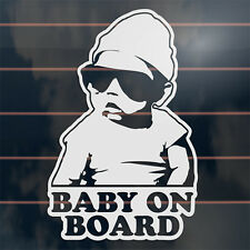 Baby on Board cool baby with sunglasses Car Sticker 170mm
