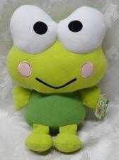 """Keroppi 11"""" Sanrio Hello Kitty Frog 2013 Fiesta Plush EUC Toy Soft Croak Green"""