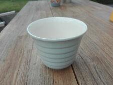 schöner Übertopf, grau, glasierte Keramik, Umtopf, 14,5 cm, Blumentopf