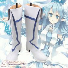 Hot Sword Art Online SAO ALO Asuna Yuuki Asuna Boot Party Shoes Cosplay Boots