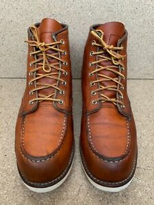 Red Wing Heritage 875 Oro Legacy Moc Men Leather Boots Sz USA 10 D | UK 9