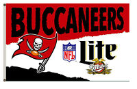 Lite Miller Tampa Bay Buccaneers Beer flag Banner 3X5Feet