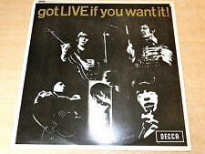 "EX/EX- !! The Rolling Stones/Got Live If You Want It/1982 Decca Reissue 12"" EP"