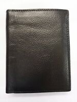High Quality Luxury Men's Soft Leather Wallet Tall Large id Flap Coin Pocket
