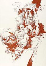 WILLI SITTE - ARS AMATORIA - LIEGENDER AKT MIT SPIEGEL - Lithografie 1970