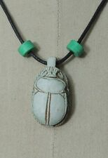 Egypt Египет Ägypten Pharaoh Scarab Necklace/Collar,Hand Carved Stone with Beads
