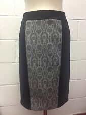 Debbieshuchat  pencil black jersey Skirt panelled  python snake pattern size S