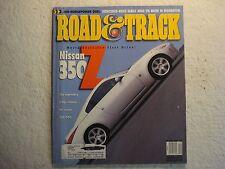 Road & Track December 2001 Nissan 350Z Honda Civic Si Bentley VW RSi Mustang
