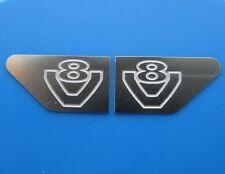 Für Tamiya Scania Truck V8 Logo badges Emblem V2A Edelstahl seitlich 1:14 1/14