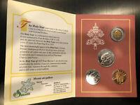 *Vatican Souvenir Coin Set Anno Santo 2000