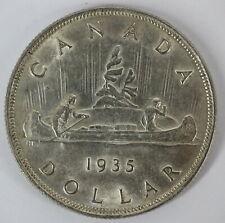 CANADA 1935 KING GEORGE V SILVER VOYAGEUR DOLLAR UNCIRCULATED COIN - B