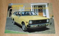 Datsun Sunny 1.4 Fastback Estate Brochure 1979 - Nissan