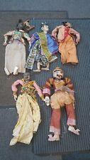 Antique Vintage Marionette Puppet lot shed find