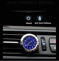1Pcs Car Auto Quartz Clock Watch A/C Vent Clip Perfume Refill Storage Fragrance
